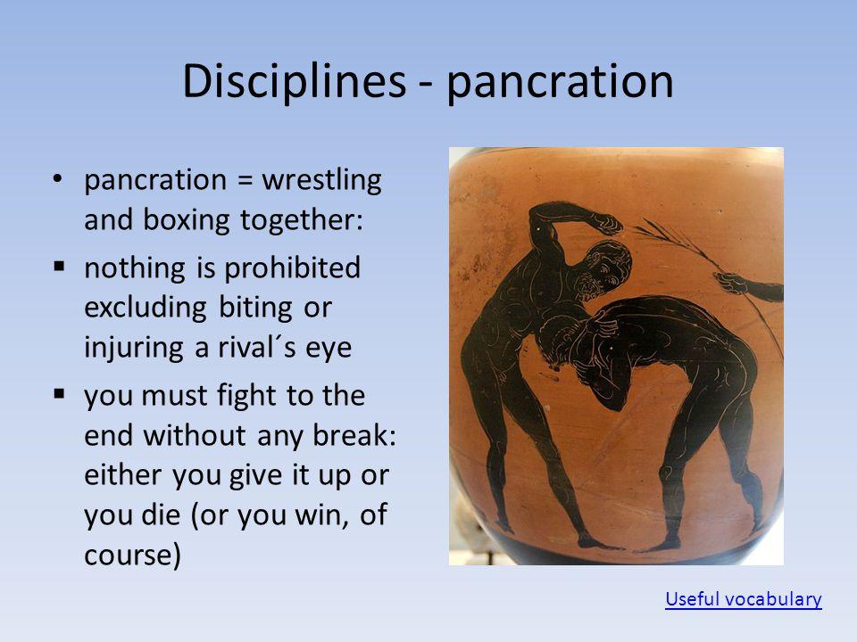 Disciplines - pancration