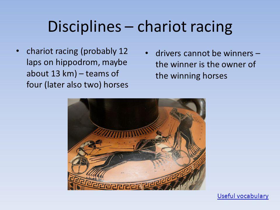 Disciplines – chariot racing