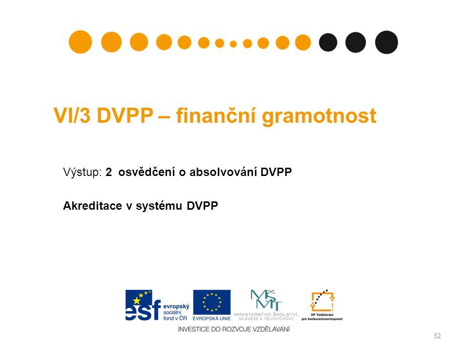 VI/3 DVPP – finanční gramotnost