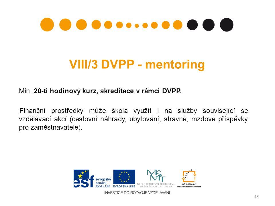 VIII/3 DVPP - mentoring