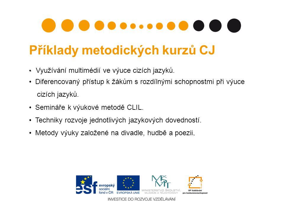 Příklady metodických kurzů CJ