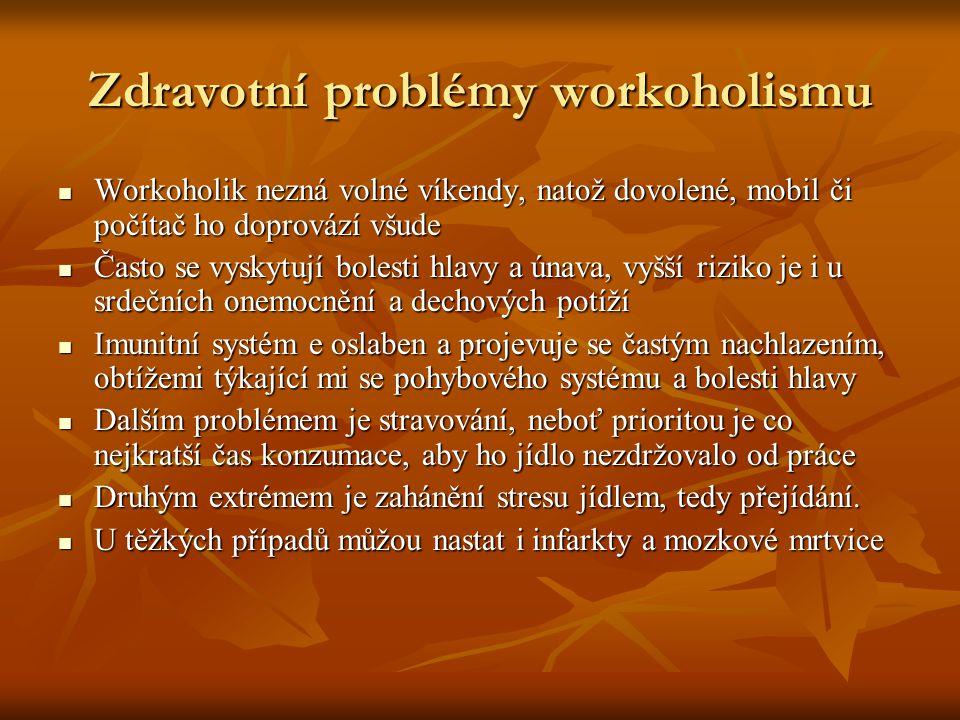 Zdravotní problémy workoholismu
