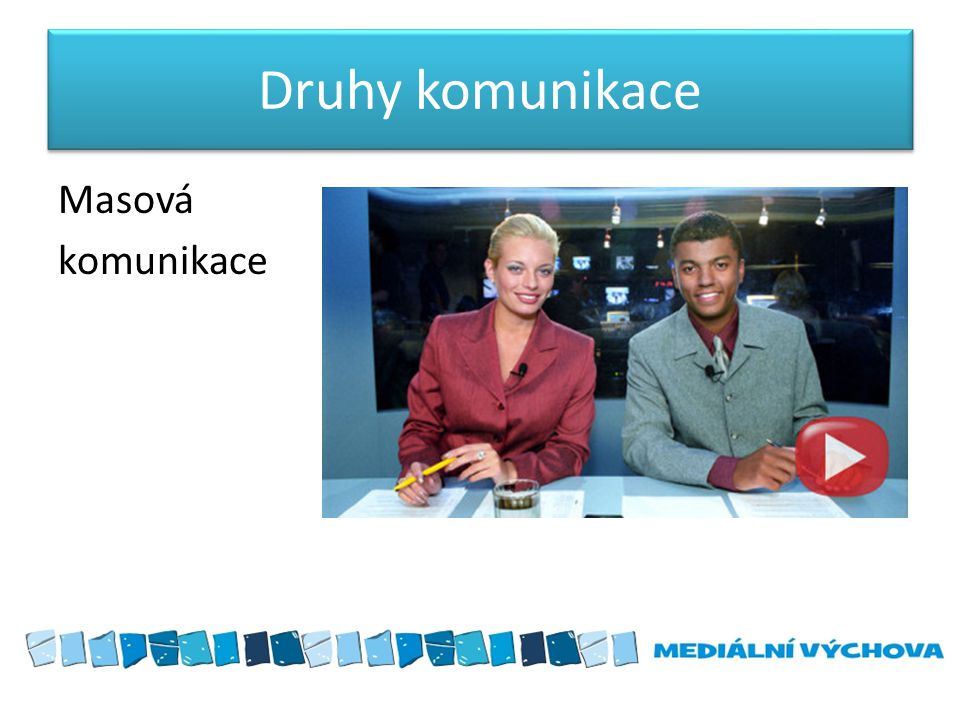 Druhy komunikace Masová komunikace
