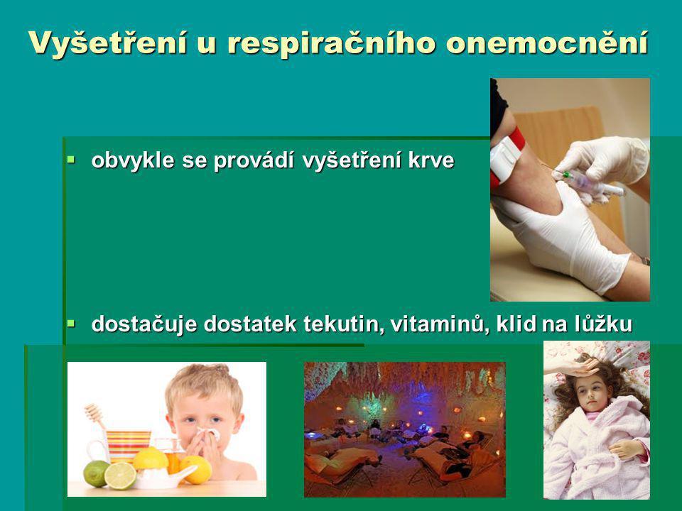 Vyšetření u respiračního onemocnění