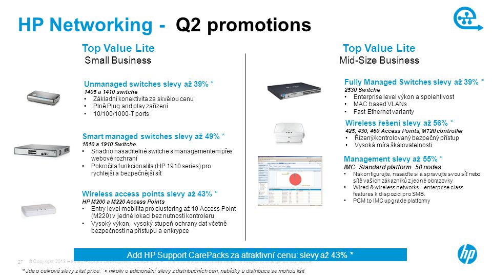 HP Networking - Q2 promotions