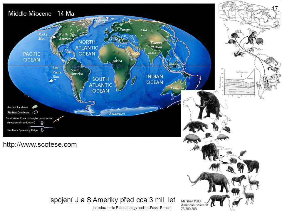 spojení J a S Ameriky před cca 3 mil. let
