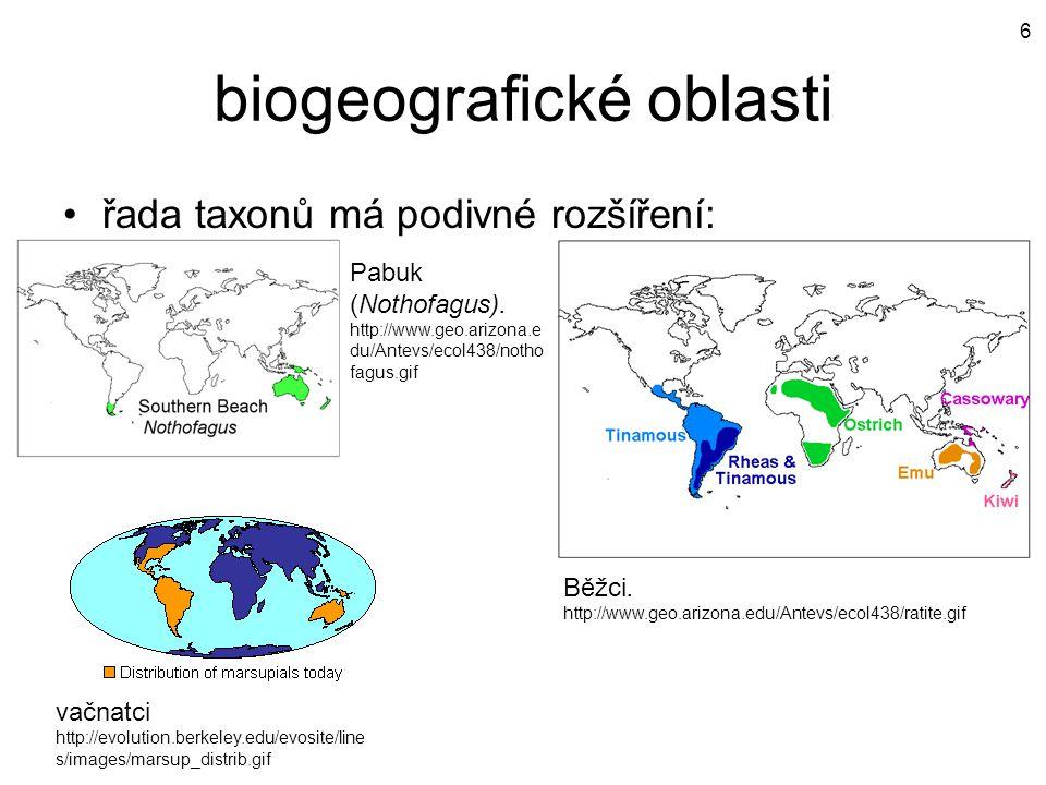 biogeografické oblasti