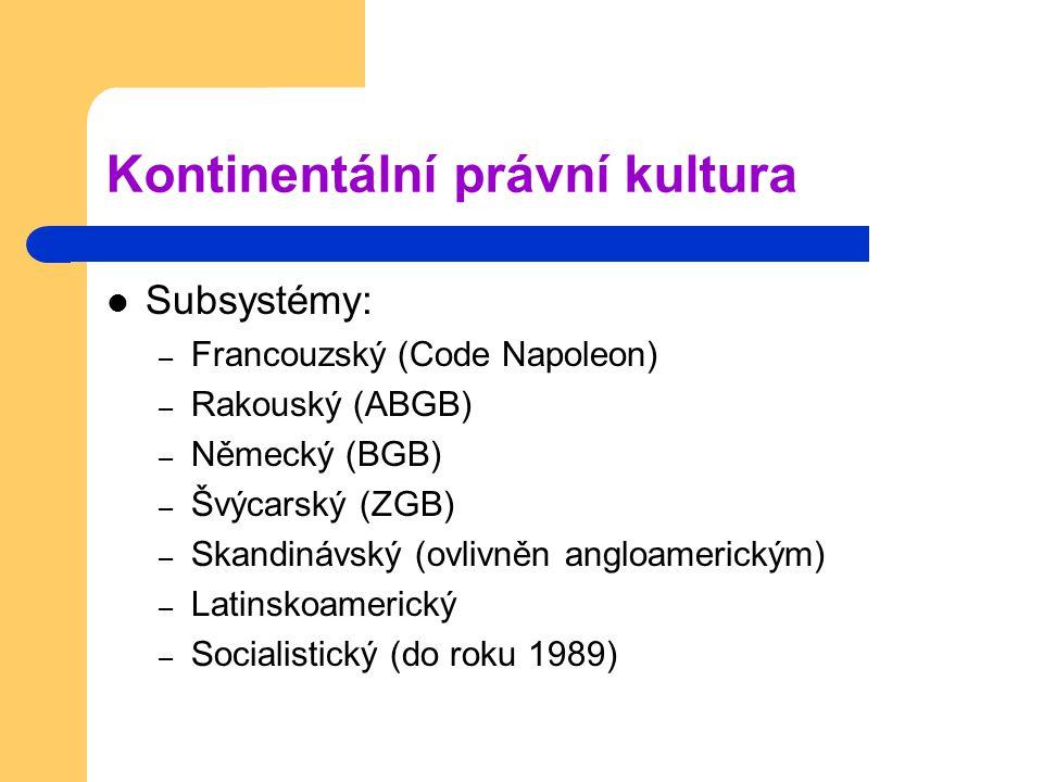Kontinentální právní kultura