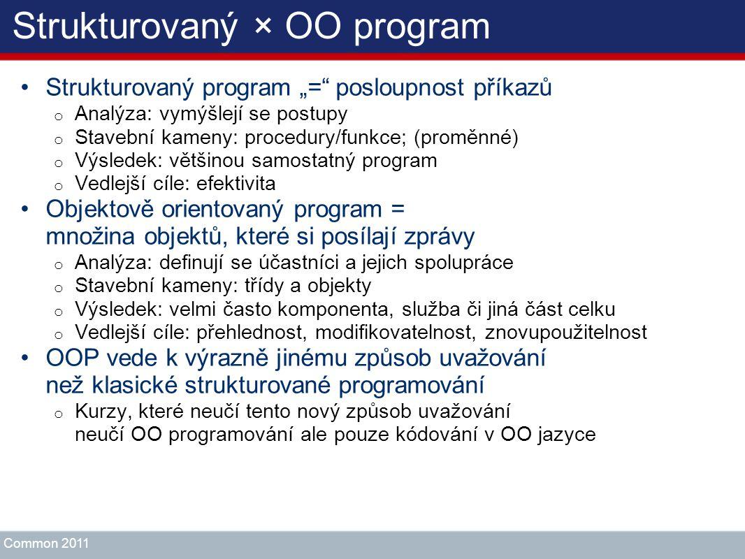 Strukturovaný × OO program