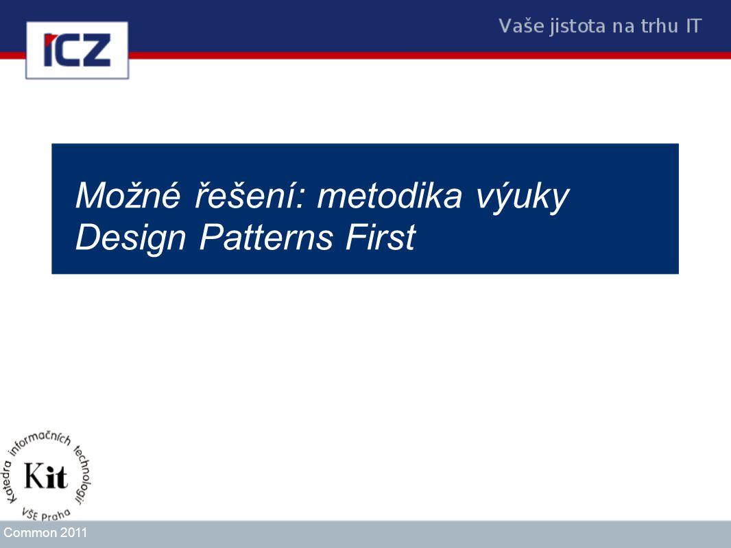 Možné řešení: metodika výuky Design Patterns First