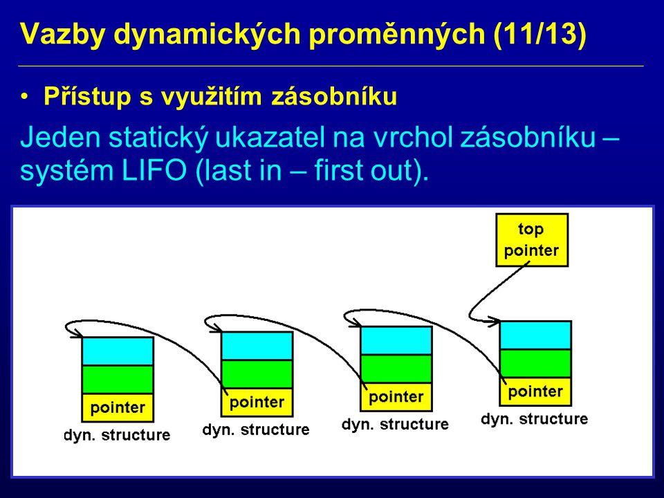 Vazby dynamických proměnných (11/13)