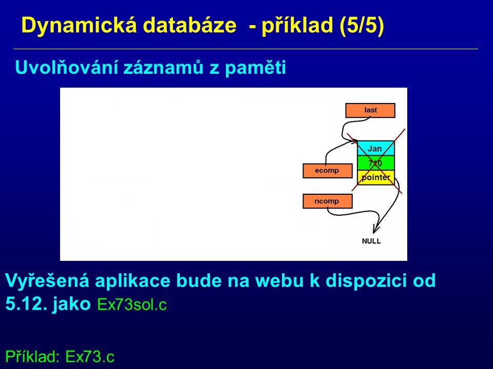 Dynamická databáze - příklad (5/5)