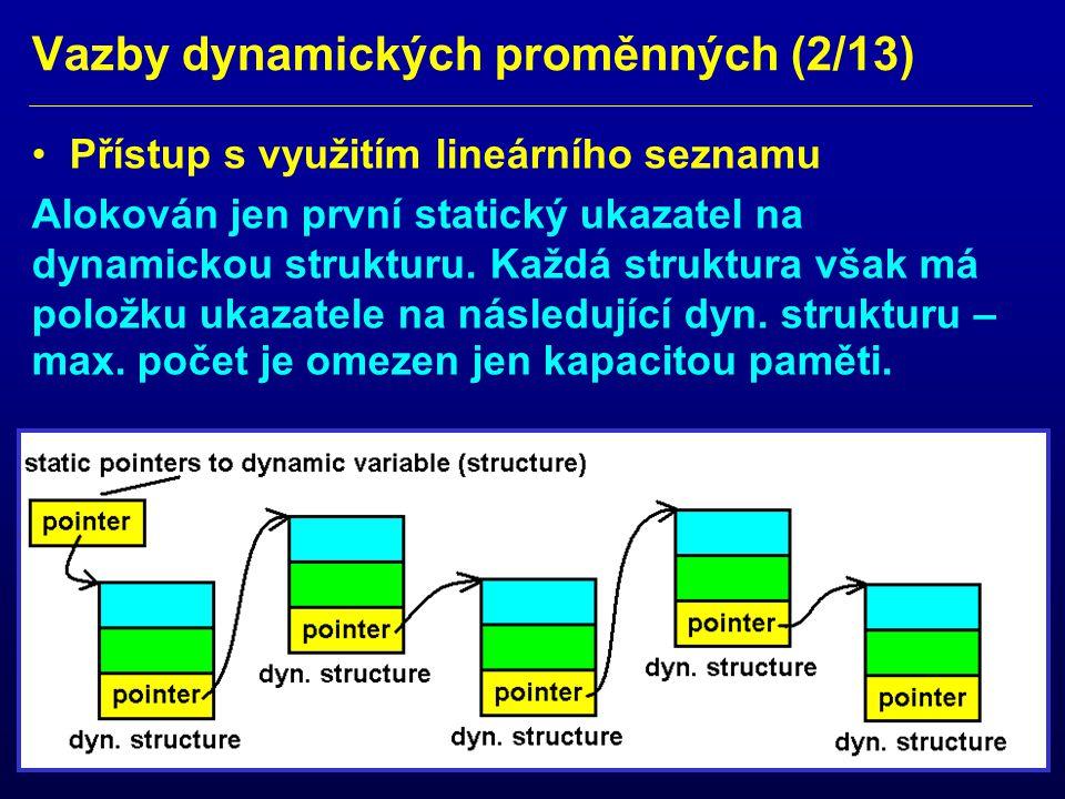 Vazby dynamických proměnných (2/13)