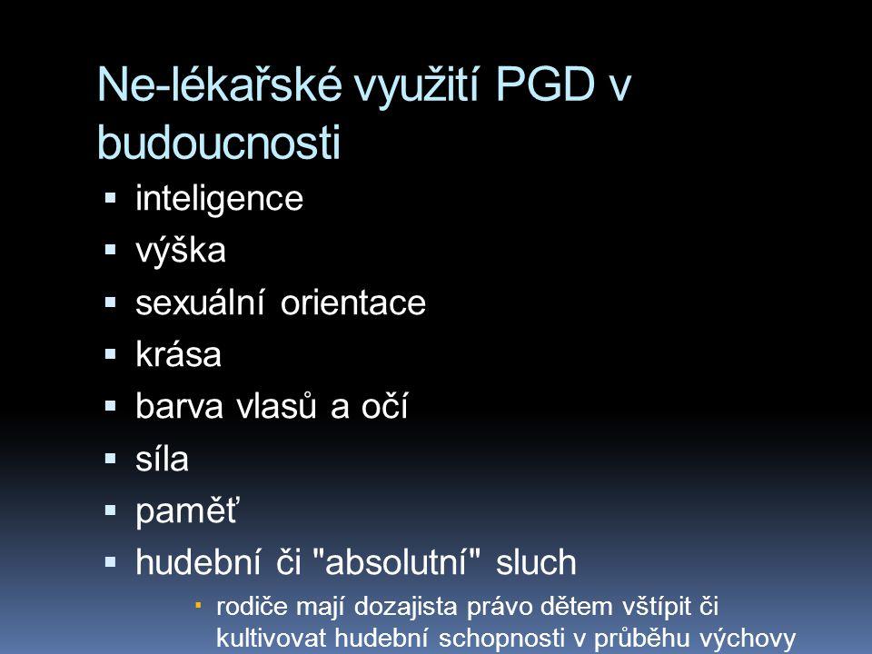 Ne-lékařské využití PGD v budoucnosti