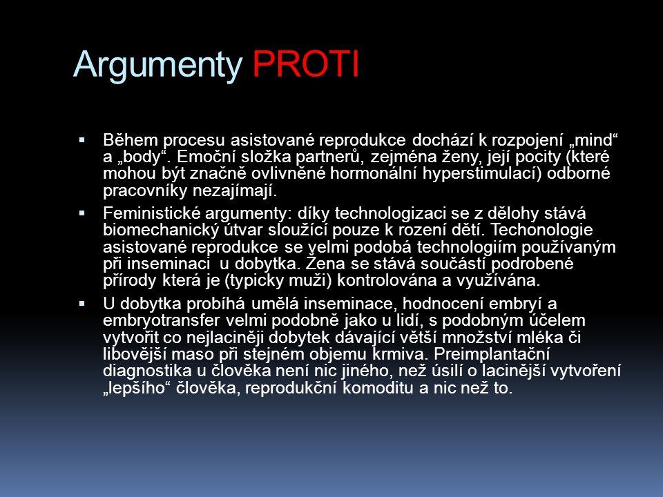 Argumenty PROTI
