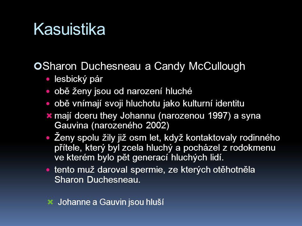 Kasuistika Sharon Duchesneau a Candy McCullough lesbický pár