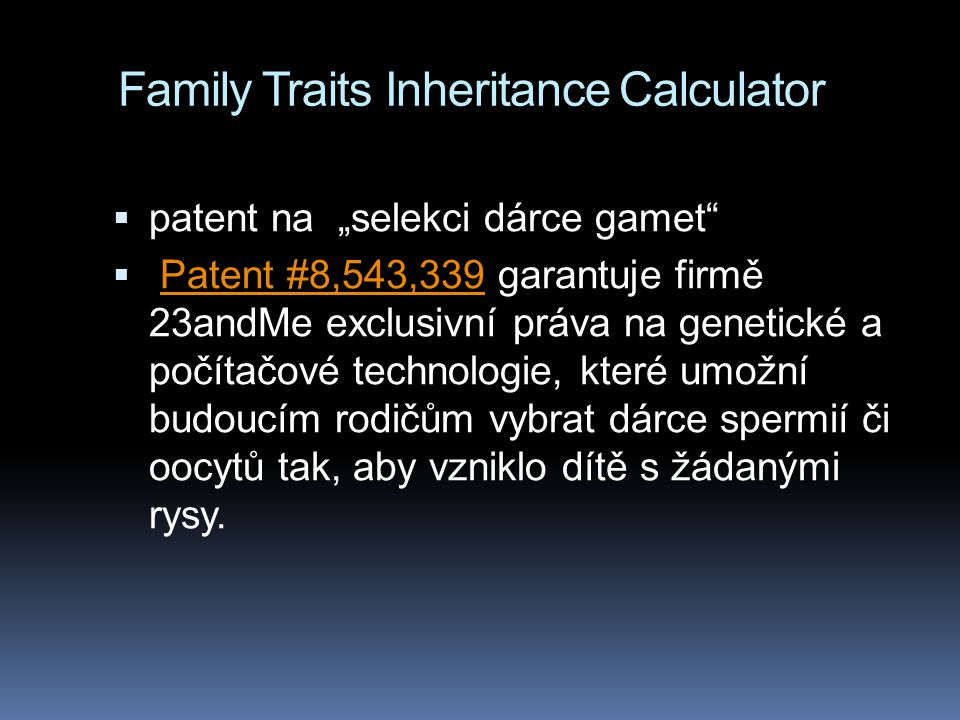 Family Traits Inheritance Calculator