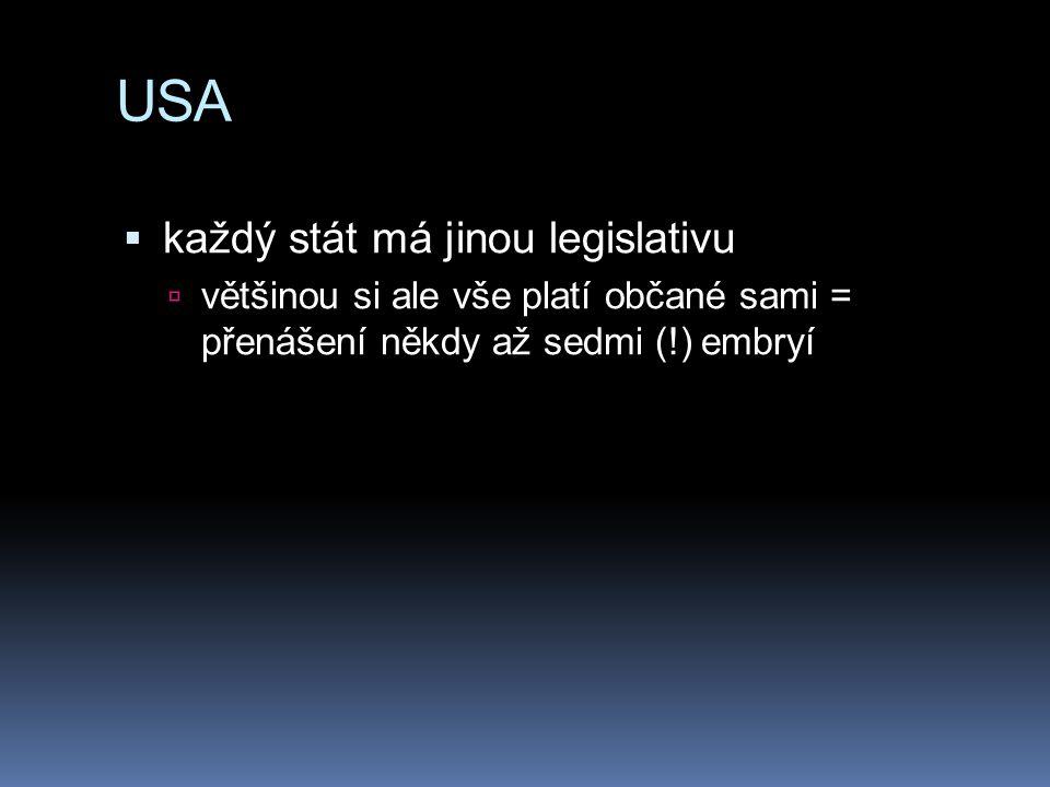 USA každý stát má jinou legislativu