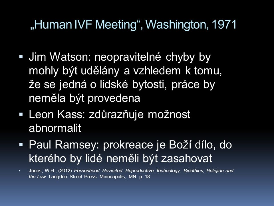 """Human IVF Meeting , Washington, 1971"