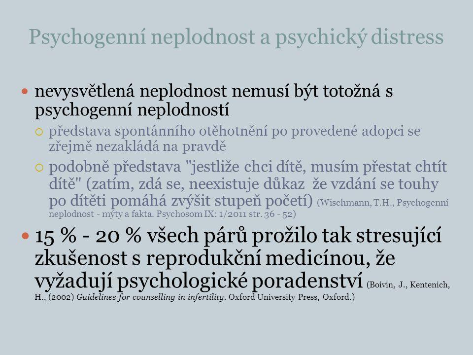 Psychogenní neplodnost a psychický distress