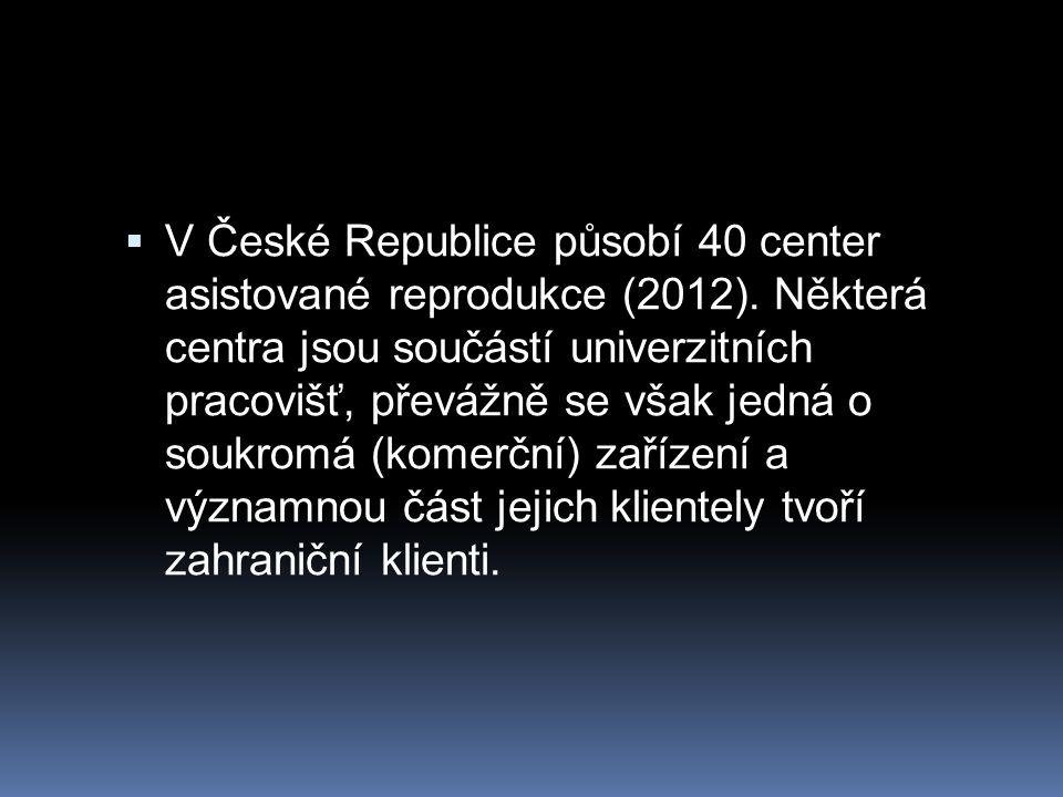 V České Republice působí 40 center asistované reprodukce (2012)
