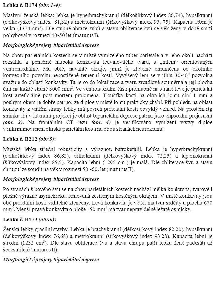 Lebka č. B174 (obr. 1-4):
