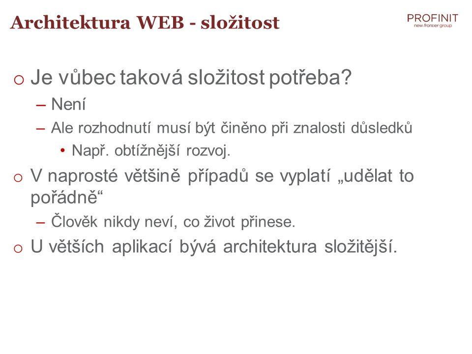 Architektura WEB - složitost