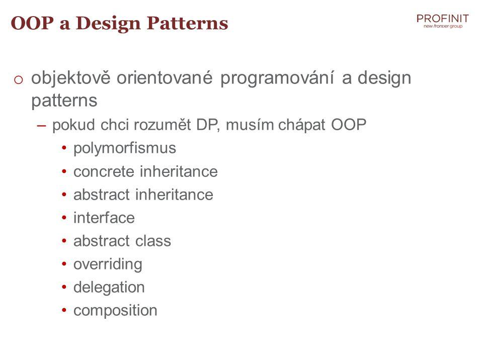 objektově orientované programování a design patterns
