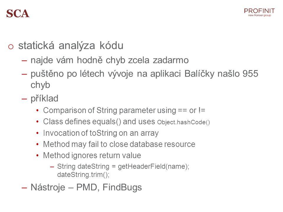 SCA statická analýza kódu najde vám hodně chyb zcela zadarmo