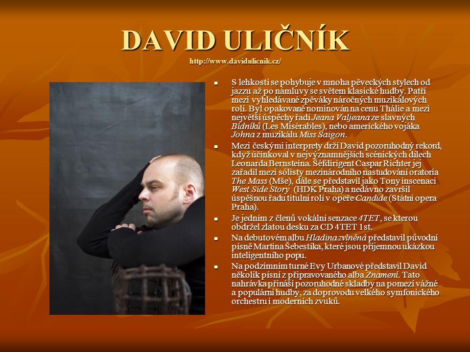 DAVID ULIČNÍK http://www.davidulicnik.cz/