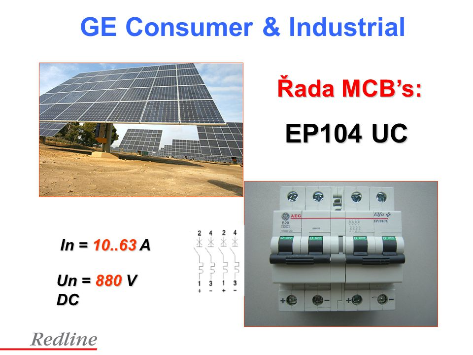 Řada MCB's: EP104 UC In = 10..63 A Un = 880 V DC