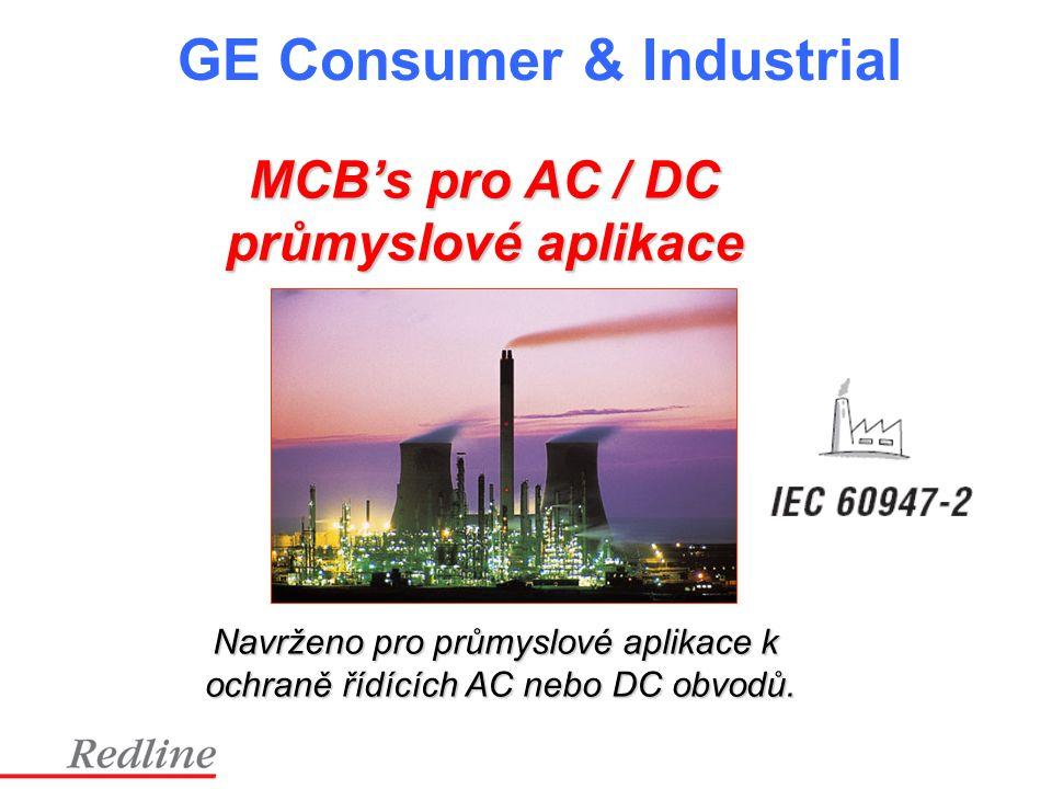 MCB's pro AC / DC průmyslové aplikace