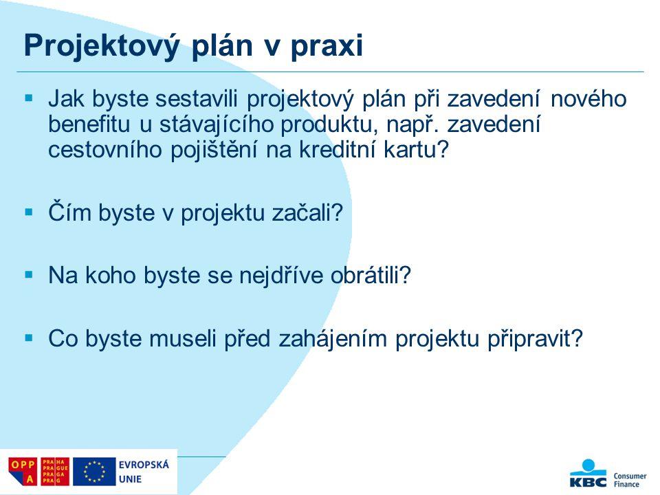 Projektový plán v praxi