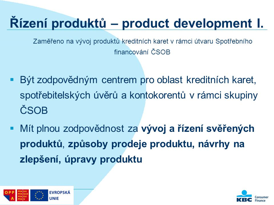 Řízení produktů – product development I.