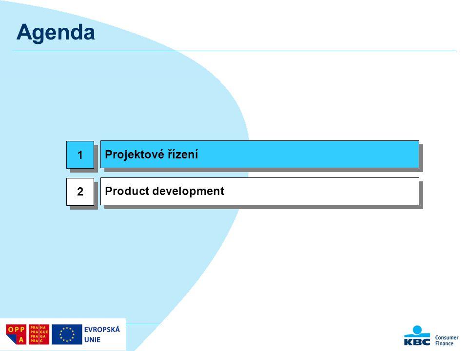 Agenda Projektové řízení 1 Product development 2