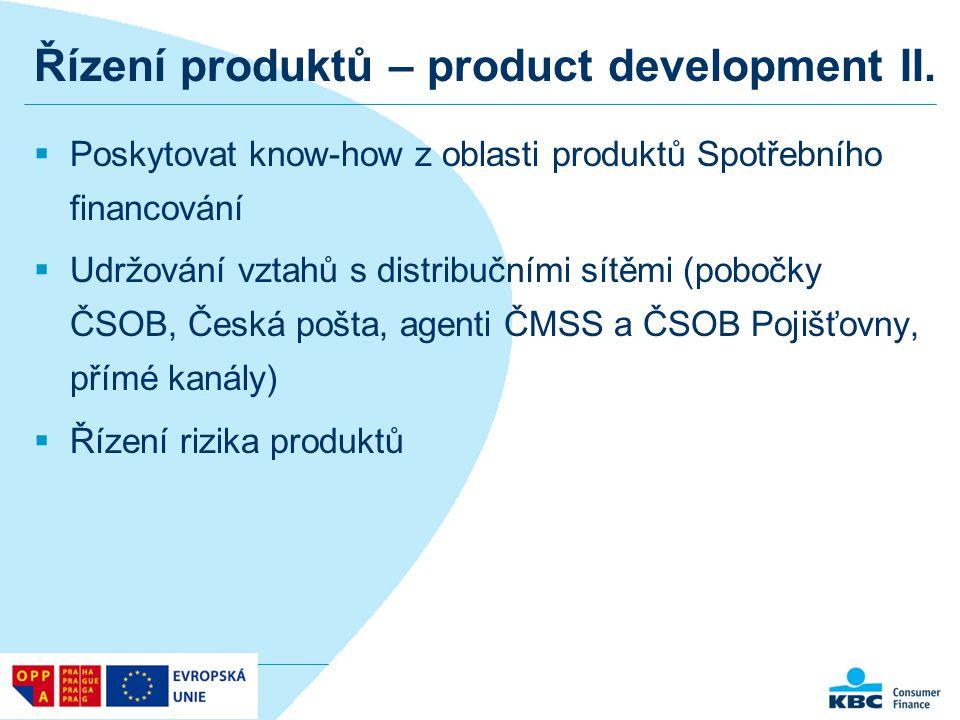 Řízení produktů – product development II.