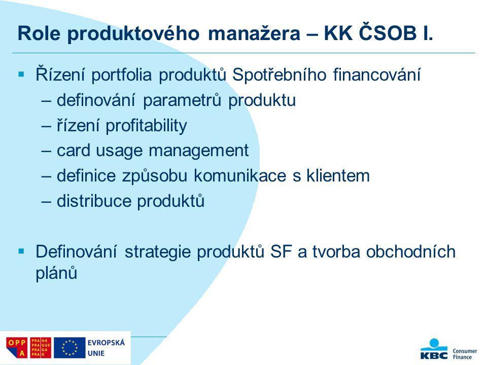 Role produktového manažera – KK ČSOB I.
