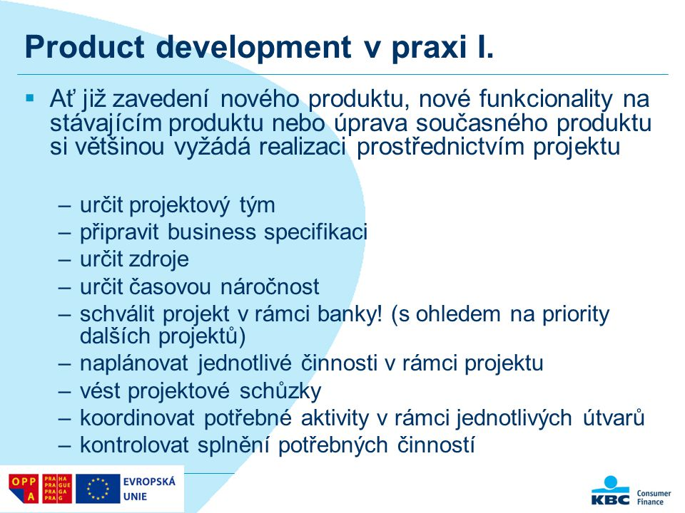 Product development v praxi I.