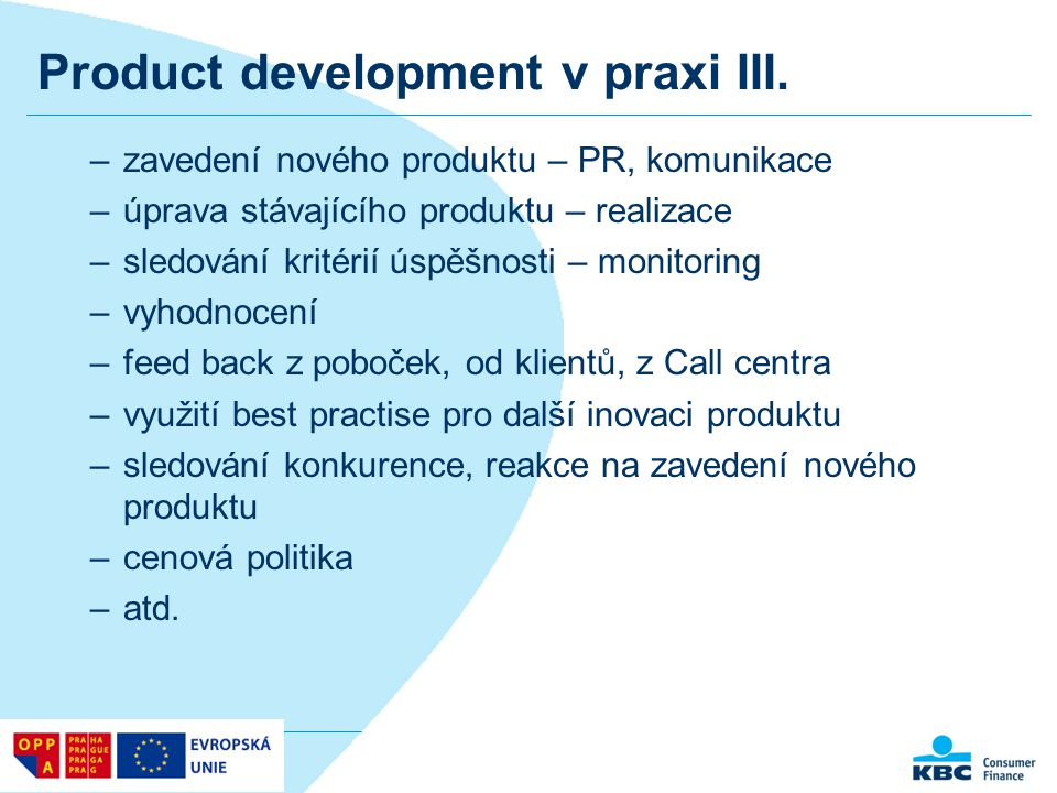 Product development v praxi III.