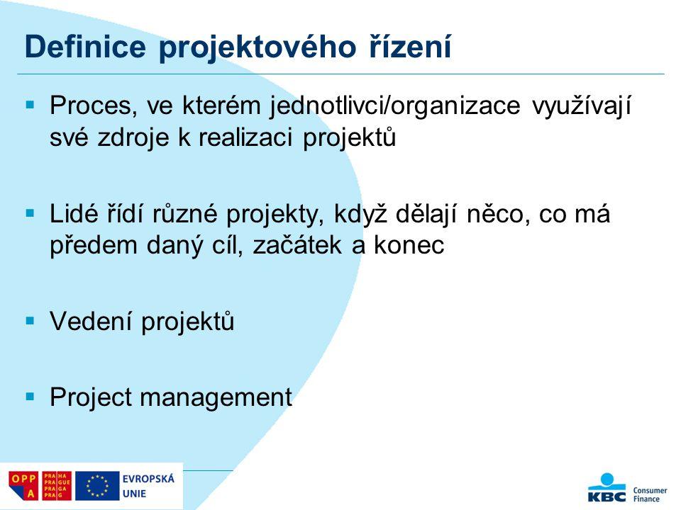 Definice projektového řízení