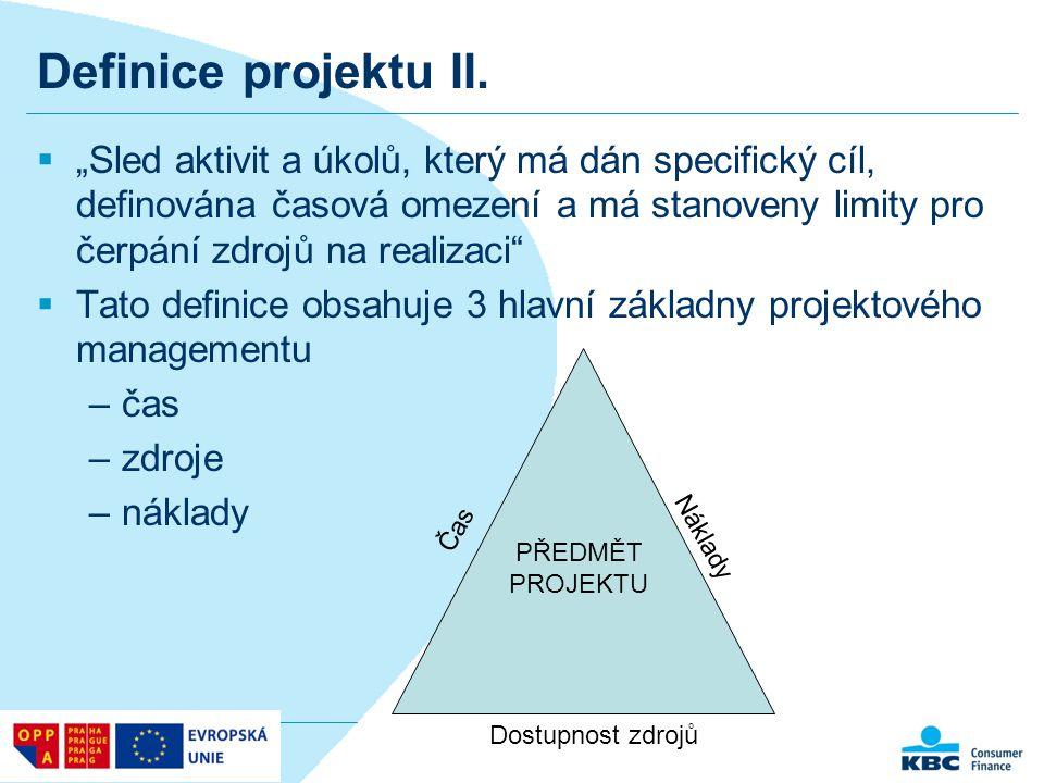 Definice projektu II.