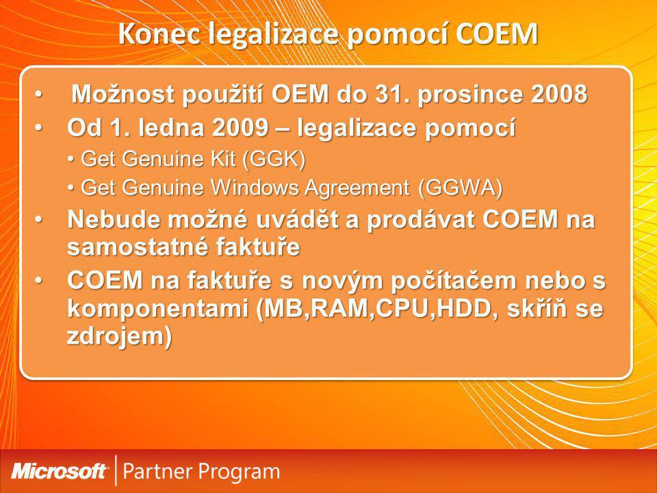 Konec legalizace pomocí COEM