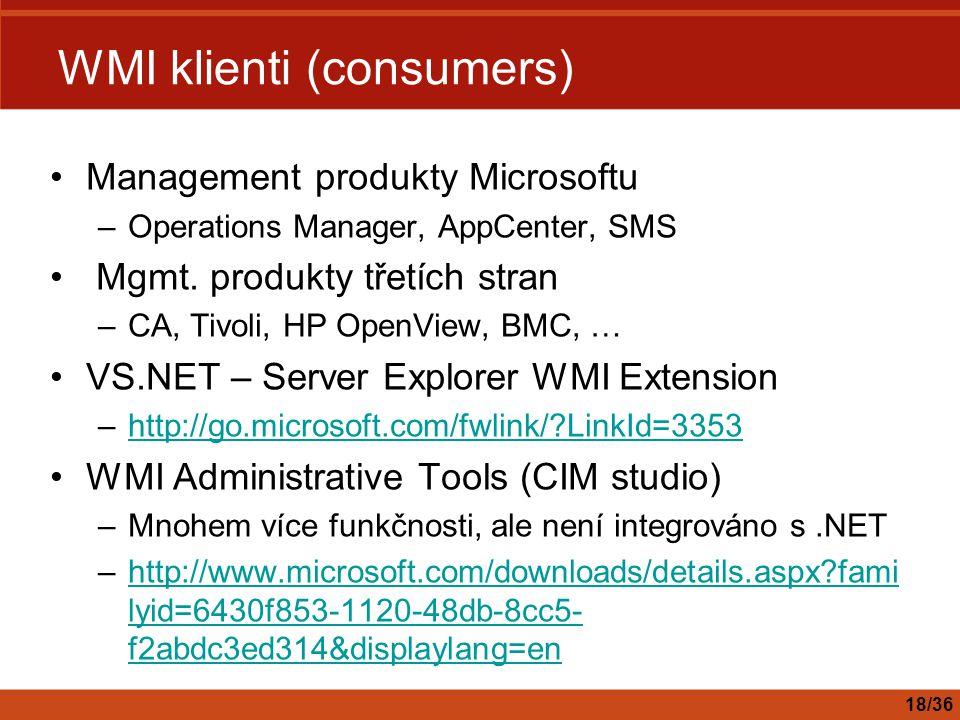 WMI klienti (consumers)