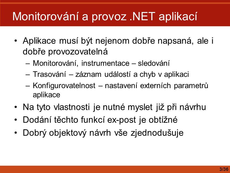 Monitorování a provoz .NET aplikací