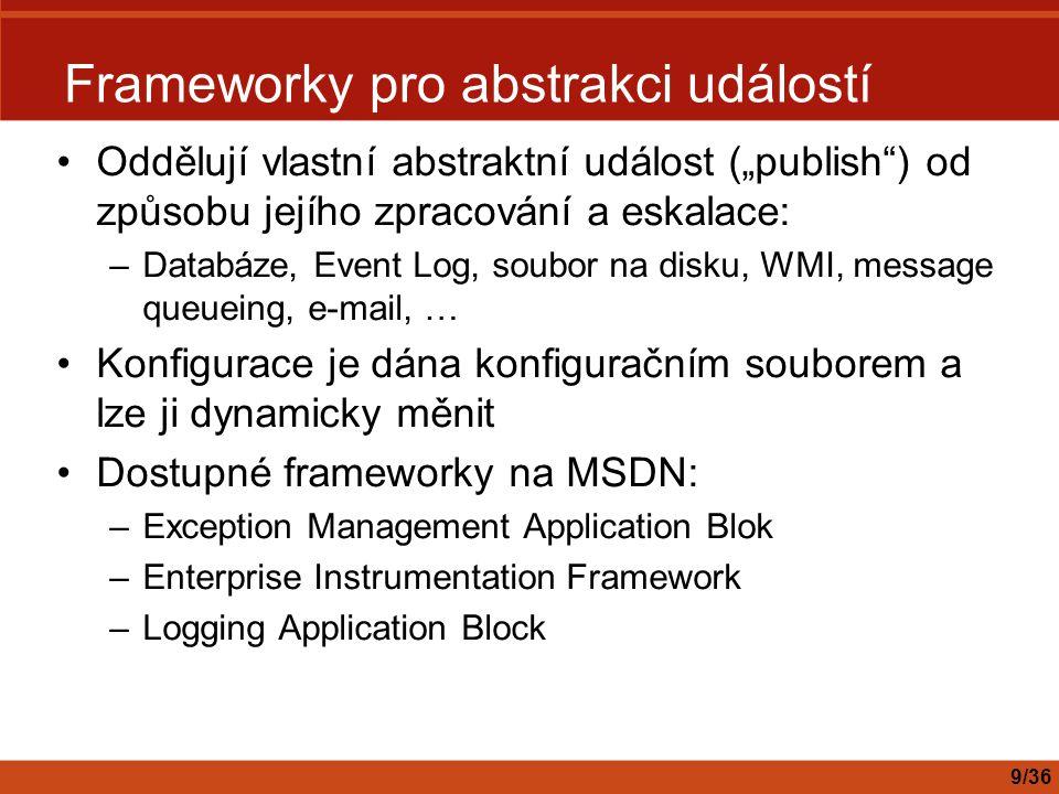 Frameworky pro abstrakci událostí