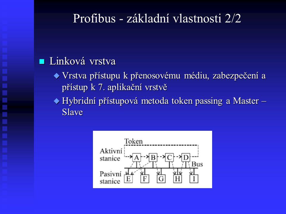 Profibus - základní vlastnosti 2/2