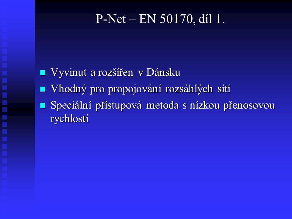 P-Net – EN 50170, díl 1. Vyvinut a rozšířen v Dánsku
