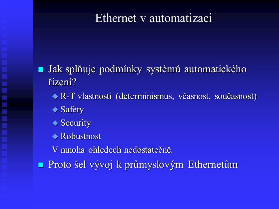 Ethernet v automatizaci