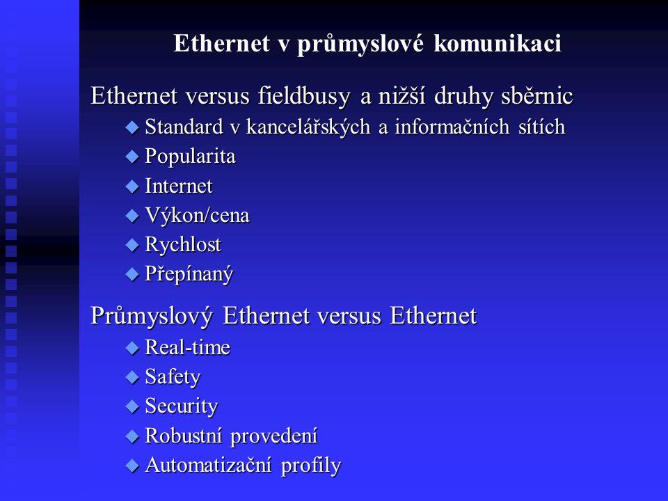 Ethernet v průmyslové komunikaci