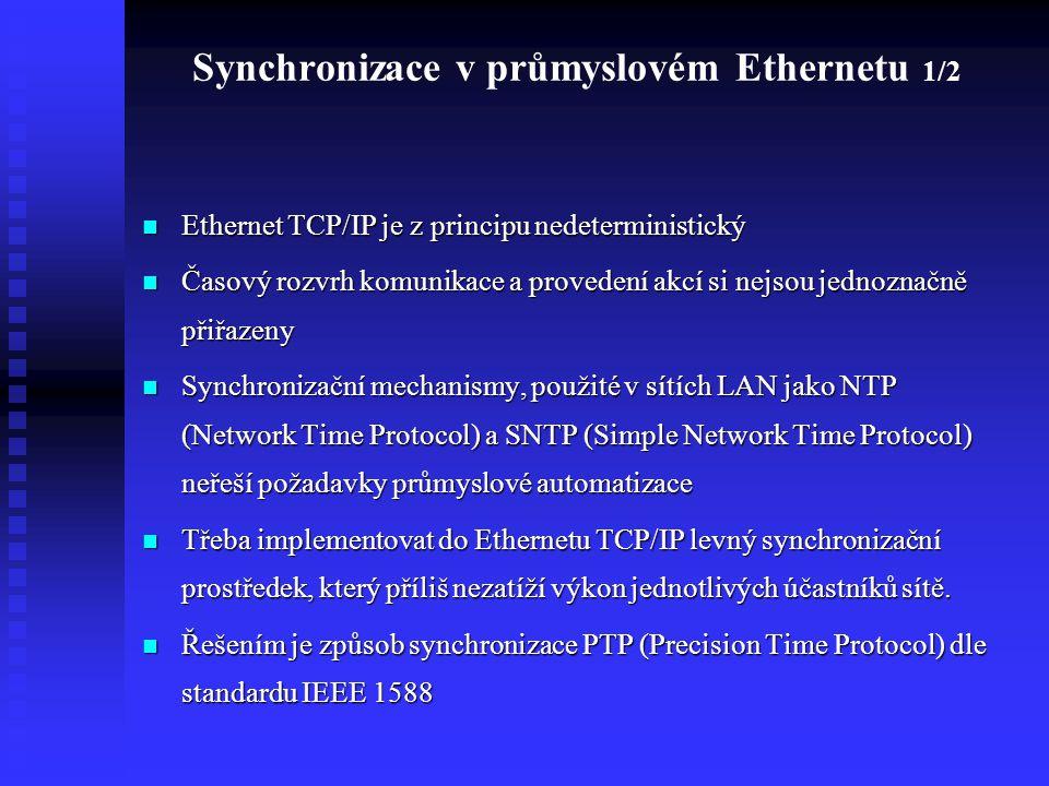 Synchronizace v průmyslovém Ethernetu 1/2